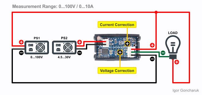 ᐉ H27VI5: Dual Display Digital DC Voltmeter & Ammeter (100V ... on