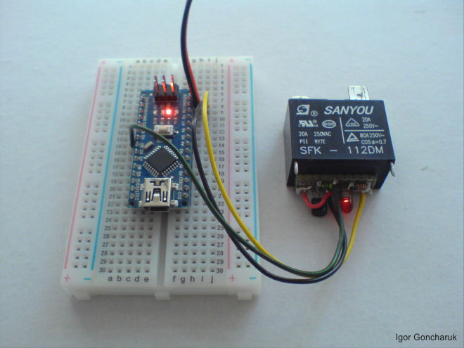 Relay SFK-112DM + Arduino