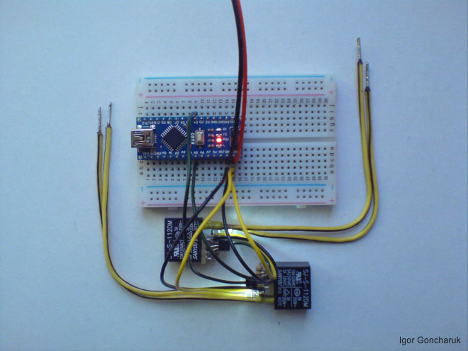 Relay SJ-S-112DM + Arduino
